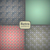 A set of 4 seamless retro patterns Vector backgrounds
