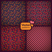 A set of 4 seamless ethnic patterns