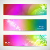 Set of abstract colorful vector banners