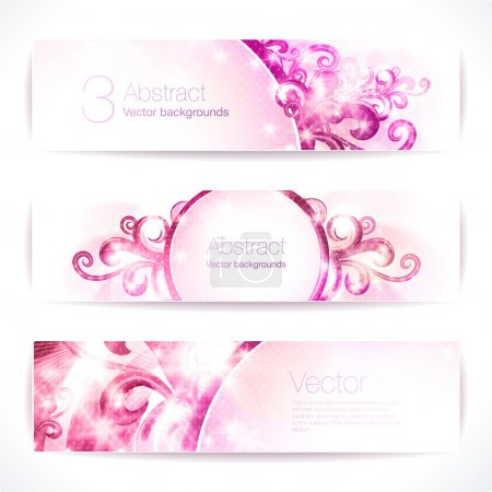 pink abstract  banners.