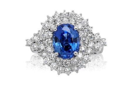 blauer Edelsteinring