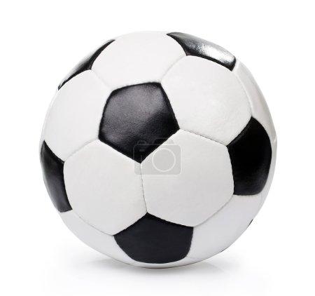 Photo pour Ballon de football, isolé - image libre de droit