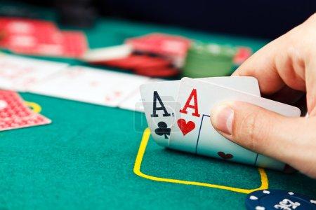 Photo pour Paire d'aces Poker - image libre de droit