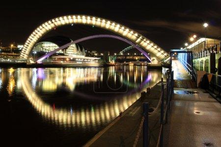 Millenium bridge, newcastle quayside