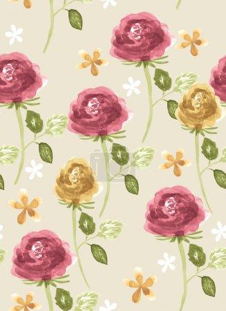 Photo pour Vive motif floral - image libre de droit