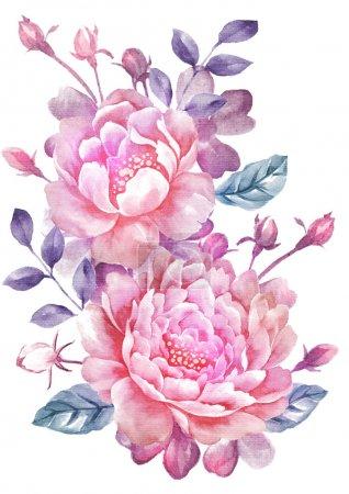 Photo pour Illustration fleur aquarelle - image libre de droit