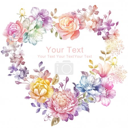 Photo for Watercolor floral illustration - Royalty Free Image