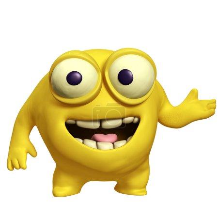 yellow cute monster