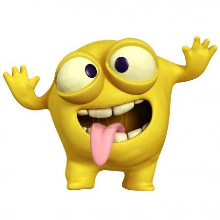 crazy yellow monster
