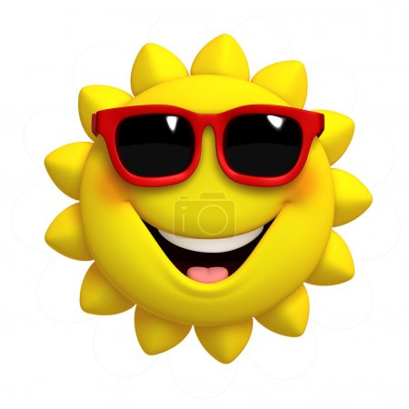 Photo for 3d cartoon cute sun - Royalty Free Image