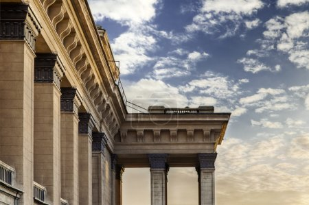 Novosibirsk opera theater architectural detail of columns