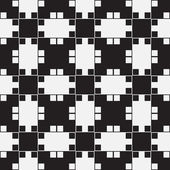 Black and White Optical Illusion Vector Seamless Pattern Background Lines Appear to Tilt but Image Consists of Squares Only