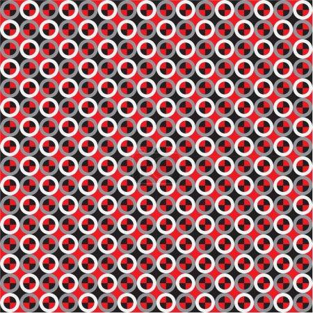 Rings, Optical Illusion, Vector Seamless Pattern B...