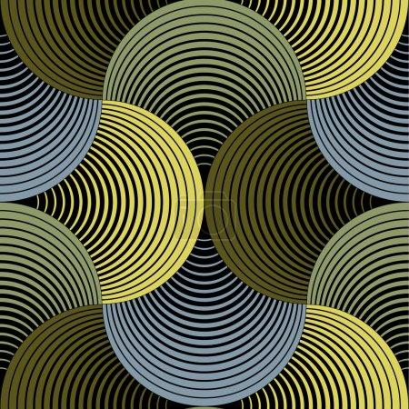 Ornate Geometric Petals Grid, Abstract Vector Seamless Pattern B