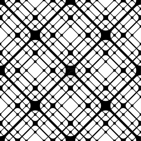 Repeating Geometric Tiles with Rounded Rhombuses, Vector seamles