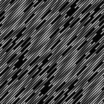 Black and White Abstract Diagonal Stripes Geometri...