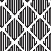 Black and White Op Art Design Vector Seamless Pattern Backgroun