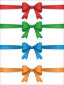 Set of color bows