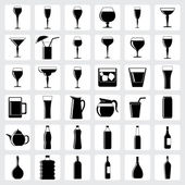 Drink glasses icons