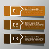 Modern design template from paper and pointers