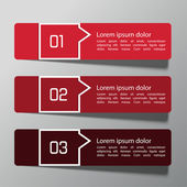 Modern design template from paper
