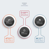Glossy colorful  plastic buttons for infographic