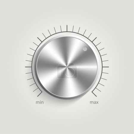 Metal vector volume music control with a scale fro...