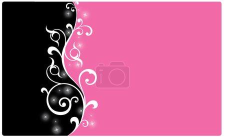 Foto de Fondo negro y rosa - Imagen libre de derechos