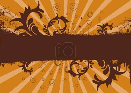 Photo pour Grunge fond brun et orange ou bannière de site - image libre de droit
