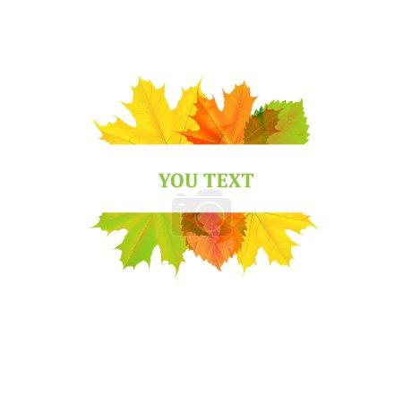 Autumn design of leaves