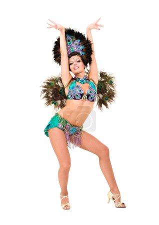 Beautiful carnival dancer woman