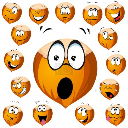 Hazelnut cartoon