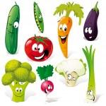 Funny vegetable cartoon isolated on white backgrou...