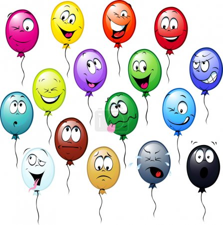 Colorful balloons cartoon