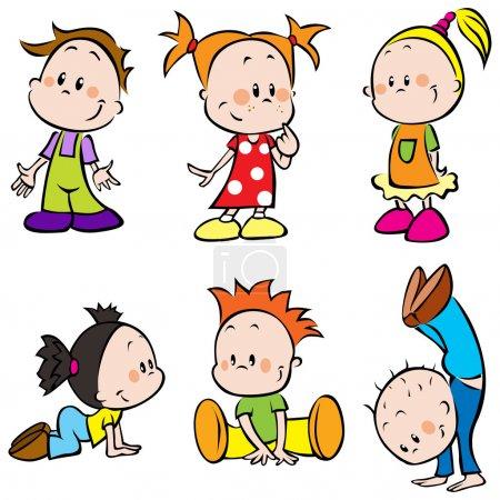 Illustration pour Enfants sur fond blanc - image libre de droit