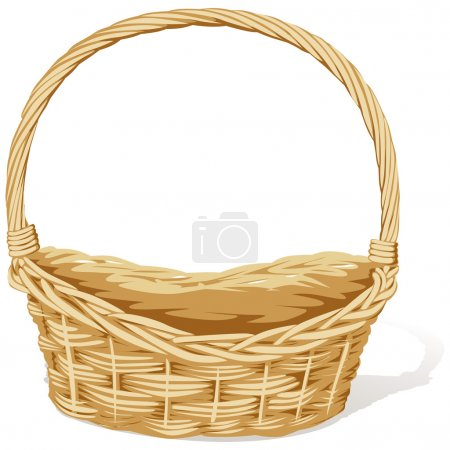 Empty vector basket on white background...