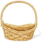 Empty vector basket on white background