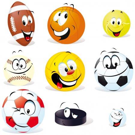 Sport balls isoletad
