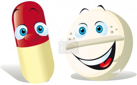 Illustration pour Pilule isolée sur fond blanc - image libre de droit