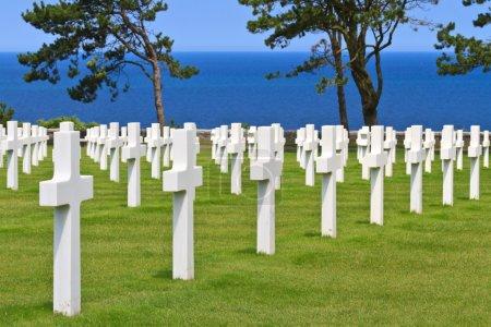 American War Cemetery near Omaha Beach, Normandy (Colleville-sur