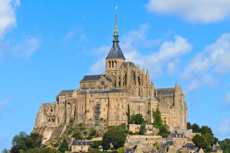 Mont Saint Michel Abbey, Normandy, Brittany, France