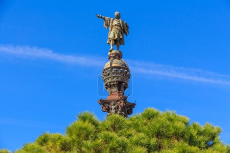 Top of Columbus Monument, Barcelona, Spain...