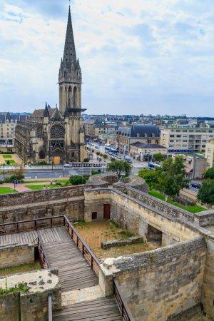 Caen, castle and L'eglise Saint-Pierre, Normandy, France