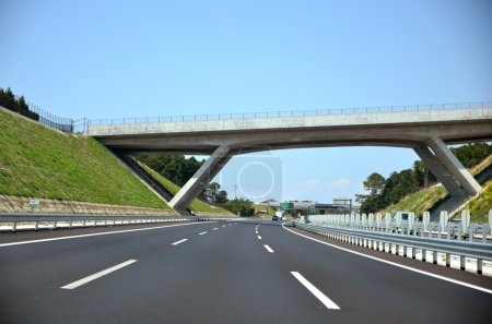 Photo for Shin Tomei Expressway. A new Expressway in Japan. - Royalty Free Image