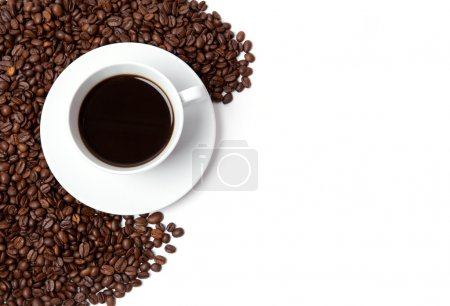 Photo for A cup of coffee on white - Royalty Free Image