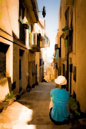 Sicilian Street - paint edit