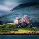 Duart Castle of Scotland in a toylike editing...