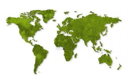 Foto de Mapa mundial de ecología, hierba de diseño - Imagen libre de derechos