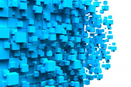 Cubes blue background