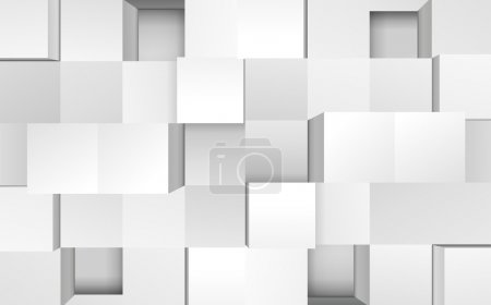Vector illustration of 3d cubes, easy editable